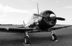 Close up velho do avião de combate do lutador Fotografia de Stock