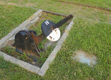 Close up velho do interruptor da trilha de estrada de ferro Foto de Stock