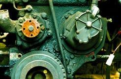 Close-up velho do motor de diesel Fotos de Stock