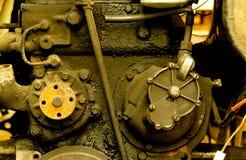 Close-up velho do motor de diesel Imagens de Stock