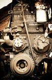Close-up velho do motor de diesel Fotos de Stock Royalty Free