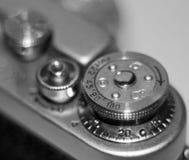 Close-up velho retro da câmera do vintage imagens de stock royalty free