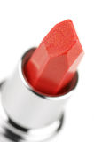 Close-up vermelho do batom fotos de stock royalty free