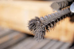 Close-up versterkte staalstaaf Stock Afbeeldingen