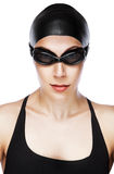 Close-up vertical portrait of swimmer Stock Image
