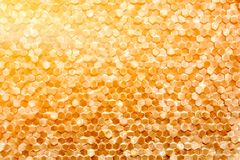 A close-up of a luxury golden wall decoration pattern Stock Photos