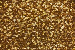 A close-up of a luxury golden wall decoration pattern Stock Photography