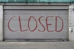Closed garage door Stock Photo
