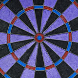Close-up of a very old unique dartboard Stock Photos