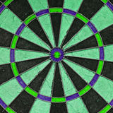 Close-up of a very old unique dartboard Royalty Free Stock Photography