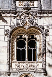 Close up of a very ornate window in the Regaleira Palace. Sintra, Portugal - July, 2015: Close up of a very ornate window in the Regaleira Palace. A neo Stock Photo