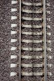 Close up vew of railroad track. Royalty Free Stock Photography