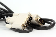 Close up VGA cable for monitor Stock Photo