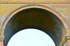 Close up of viaduct arch Stock Photos