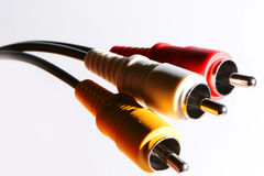Close up video audio dos conectores Imagem de Stock