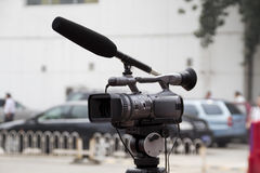 Close up of video camera Royalty Free Stock Photography