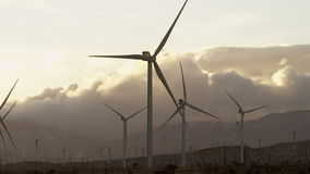 The close-up videoof windmills stock video