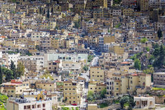 Close up view of Al Yarmouk district in Amman, Jordan. Amman, Jordan - April 03, 2015: Close up view of Al Yarmouk district in Amman. Amman is the capital and stock photo
