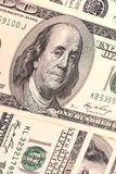 Close up view of american dollar banknote Royalty Free Stock Photos