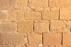 Close up view of an ancient smooth textured brick wall Royalty Free Stock Photography
