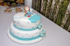 Sweet boy cake. Close up view of an anniversary sweet boy cake Stock Photo