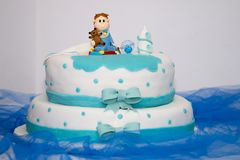 Sweet boy cake. Close up view of an anniversary sweet boy cake Royalty Free Stock Images