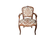 Close up view of the Antique old elbow-chair Royalty Free Stock Photo