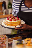 Close up view of appetizing cake Stock Image