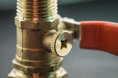 Close-up view of ball valve. Stock Photography