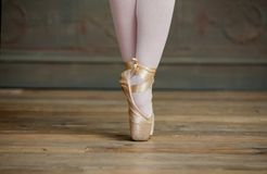 Ballerina Standing on Toes Royalty Free Stock Photo