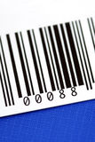 Close up view of the bar code Stock Photography