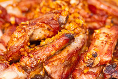 Close up view of barbecue ribs Stock Photos
