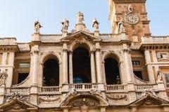 Close up view of the Basilica di Santa Maria Maggiore, Rome Royalty Free Stock Photography