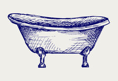 Close-up view of bath Stock Images