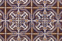 Portuguese azulejo texture Royalty Free Stock Images