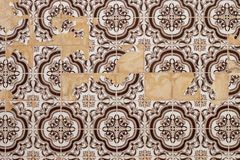 Portuguese azulejo texture Stock Images