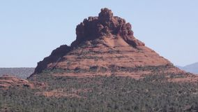 Arizona, Sedona, A close up view of Bell Rock and surrounding trees in east Sedona