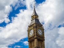 Big Ben clock Tower, London. Close up view of the Big Ben clock Tower in London England Stock Photo