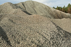 Close up view on big pile of gravel Royalty Free Stock Image
