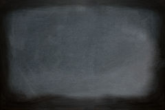 Close up view of a black dirty chalkboard without a wooden frame. Royalty Free Stock Photos