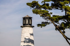 Close-up View of Buckroe Beach Lighthouse on Sunny Day Royalty Free Stock Photos