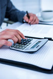 Close up view of a business desk Stock Photo