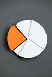 Close up view of business pie chart Stock Image