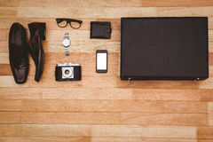 Close up view of businessman stuff Stock Photography