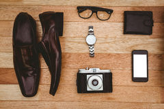 Close up view of businessman stuff Royalty Free Stock Image