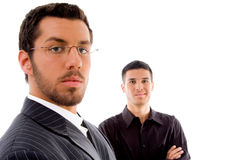 Close up view of businesspeople looking at camera Stock Photos