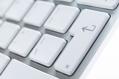 Close up view of buttons of computer keyboard Royalty Free Stock Photography