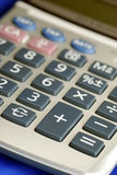 Close up view of a calculator Stock Photo