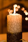 Close up view of the candle. Royalty Free Stock Images