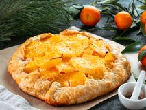Caraway and orange tart Stock Images